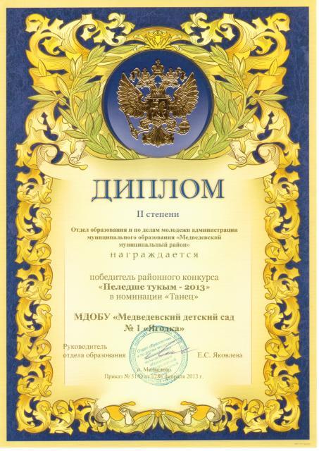 образец диплома за участие в конкурсе