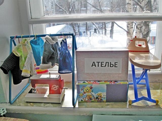 уголок ателье в детском саду картинки